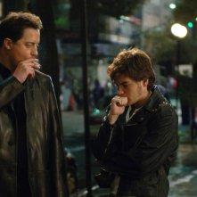Brendan Fraser ed Emile Hirsch in una scena del film The Air I Breathe