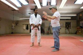 Chiwetel Ejiofor e il regista David Mamet sul set del film Redbelt