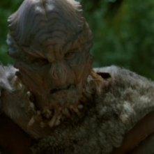 Dion Johnstone interpreta Chaka, un giovane Unas che rapisce il Dott. Jackson durante una spedizione archeologica nell'episodio ' I primi' della serie Stargate SG-1