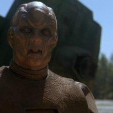 Dion Johnstone nel ruolo dell'alieno Warrick Trevor, un abitante del pianeta Hebridan nella serie Stargate SG-1, episodio: Abbandonati