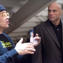 Il regista David Mamet e Randy Couture sul set del film Redbelt