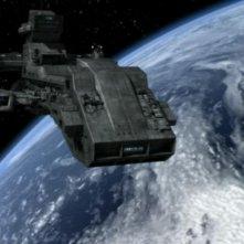 La Prometeo, la prima astronave costruita dai Terrestri viene rubata nell'episodio 'Prometeo' della serie Stargate SG-1