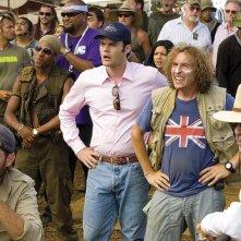 Brandon T. Jackson, Bill Hader e Steve Coogan in una scena del film Tropic Thunder