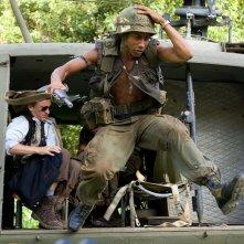 Brandon T. Jackson in una sequenza della commedia Tropic Thunder