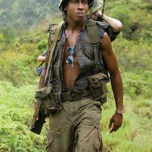 Brandon T. Jackson in una sequenza di Tropic Thunder
