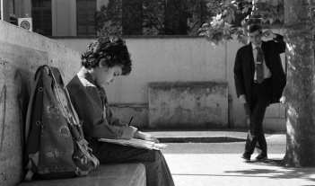 Luigi Santoro e Antonio Friello sul set del film Animanera