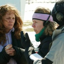 Melissa Leo e la regista Courtney Hunt sul set del film Frozen River