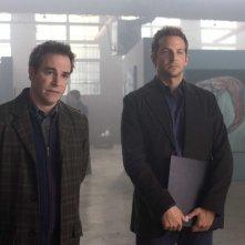 Roger Bart e Bradley Cooper in una scena del film The Midnight Meat Train