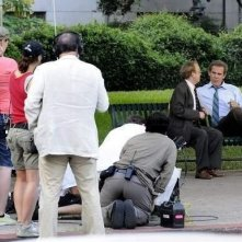 Toby Jones e Josh Brolin sul set del film W.