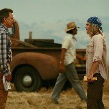 Bill Pullman e Chris Pine in una scena del film Bottle Shock