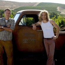 Bill Pullman e Chris Pine in una sequenza del film Bottle Shock