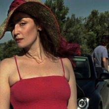 Una foto scattata sul set del film Two Lines
