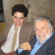 Andrea Montovoli e Pupi Avati sul set del film Il papà di Giovanna.