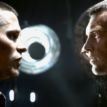Christian Bale e Sam Worthington in una scena del film Terminator Salvation