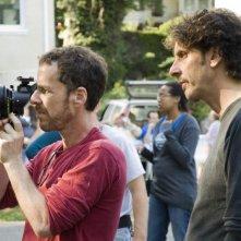 I registi Ethan Coen e Joel Coen sul set del film Burn After Reading