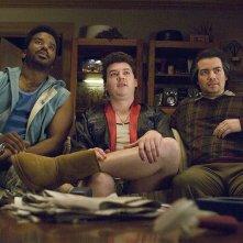 Craig Robinson, Kevin Corrigan e Danny McBride in una scena del film Strafumati