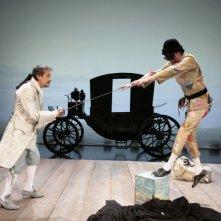 Adriano Braidotti e Carlo Dapporto ne I due gemelli veneziani, a teatro