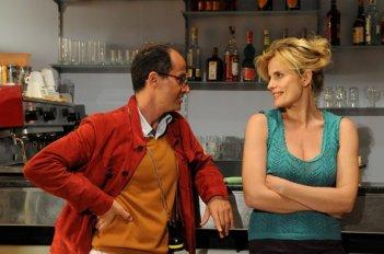 Il regista Pappi Corsicato e Isabella Ferrari sul set del film Il seme della discordia