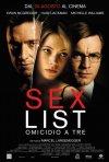 La locandina italiana di Sex List - Omicidio a tre