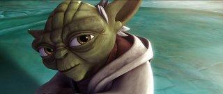 Yoda in una sequenza del film The Clone Wars