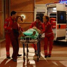 Andrea Marrocco, Miriam Mesturino e Daniela Scarlatti in una scena di Terapia d'urgenza
