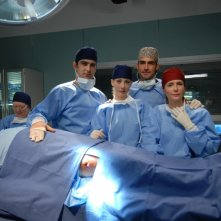 Marco Basile, Daniela Scarlatti e Sergio Múñiz in una foto promozionale di Terapia d'urgenza