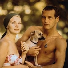 Paul Newman e sua moglie Joanne Woodwad nel 1958