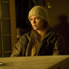 Charlize Theron in una scena del film The Road