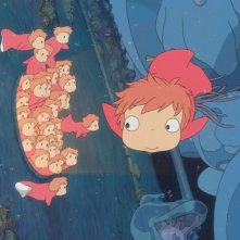Un'immagine tratta dal film Ponyo on the Cliff by the Sea