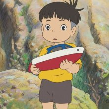 Un'immagine tratta dal film Ponyo on the Cliff by the Sea diretto da Hayao Miyazaki