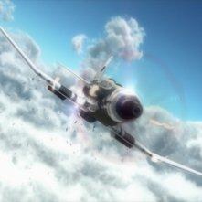 Una scena di The Sky Crawlers