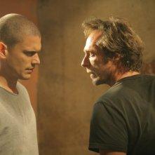 Wentworth Miller e William Fichtner: da ex nemici, i loro personaggi sono costretti ad allearsi nell'episodio 'Chiamata in attesa' della serie Prison Break