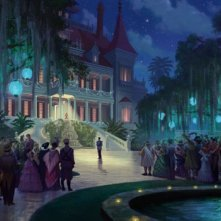Una scena del film The Princess and the Frog