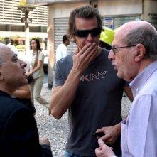 Leon Cakoff, Ricardo Trêpa e il regista Manoel de Oliveira sul set del film Do Visível ao Invisível