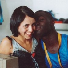 Susy Laude e Thierno Thiam sul set del film Billo - Il Grand Dakhaar