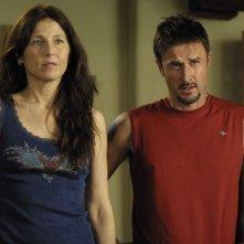 Catherine Keener e David Arquette in una scena del film Hamlet 2
