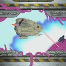 La schermata del menu principale del DVD Futurama - La bestia con un miliardo di schiene