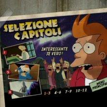 La schermata della selezione capitoli del DVD Futurama - La bestia con un miliardo di schiene