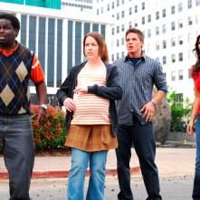 G. Thang, Crista Flanagan, Matt Lanter e Kimberly Kardashian in una scena del film Disaster Movie