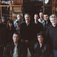 Robert De Niro, il regista Jon Avnet e Al Pacino sul set del film Sfida senza regole - Righteous Kill