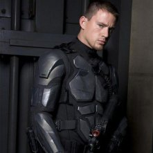 Una bella immagine promozionale di Channing Tatum nel film C.I. Joe: Rise of Cobra