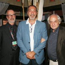 Da sinistra, il Regista M. Sciarra, Enzo de Camillis e il regista Citto Maselli