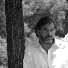 Un ritratto in bianco e nero di Stefano Ambrogi
