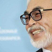 Venezia 2008: un sorridente Hayao Miyazaki presenta il suo ultimo lavoro, Ponyo on the Cliff by the Sea