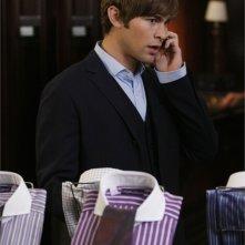 Chace Crawford in una scena dell'episodio 'The Dark Night' della serie Gossip Girl