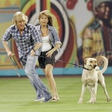 Owen Wilson e Jennifer Aniston in una scena del film Marley & Me