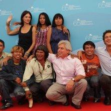Venezia 65. - Marco Bechis presenta La terra degli uomini rossi insieme al cast del film, tra cui Santamaria e la Caselli