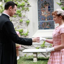 Colin Hanks ed Elisabeth Moss nell'episodio Three Sundays di Mad Men