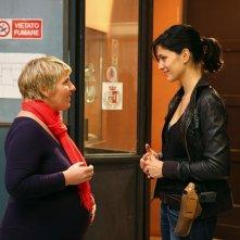 Daniela Morozzi e Giulia Bevilacqua in una scena di Distretto di Polizia 8