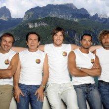 Isola dei Famosi 6: Filippo Tumiotto, Giuseppe Lago, Antonio Cabrini, Giucas Casella e Massimo Ciavarro.